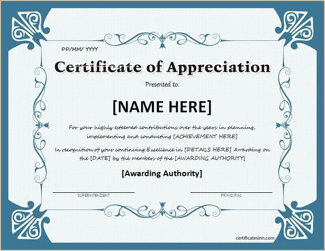 Example Of Certificate Of Appreciation Unique Printable Certificates Of Appreciation