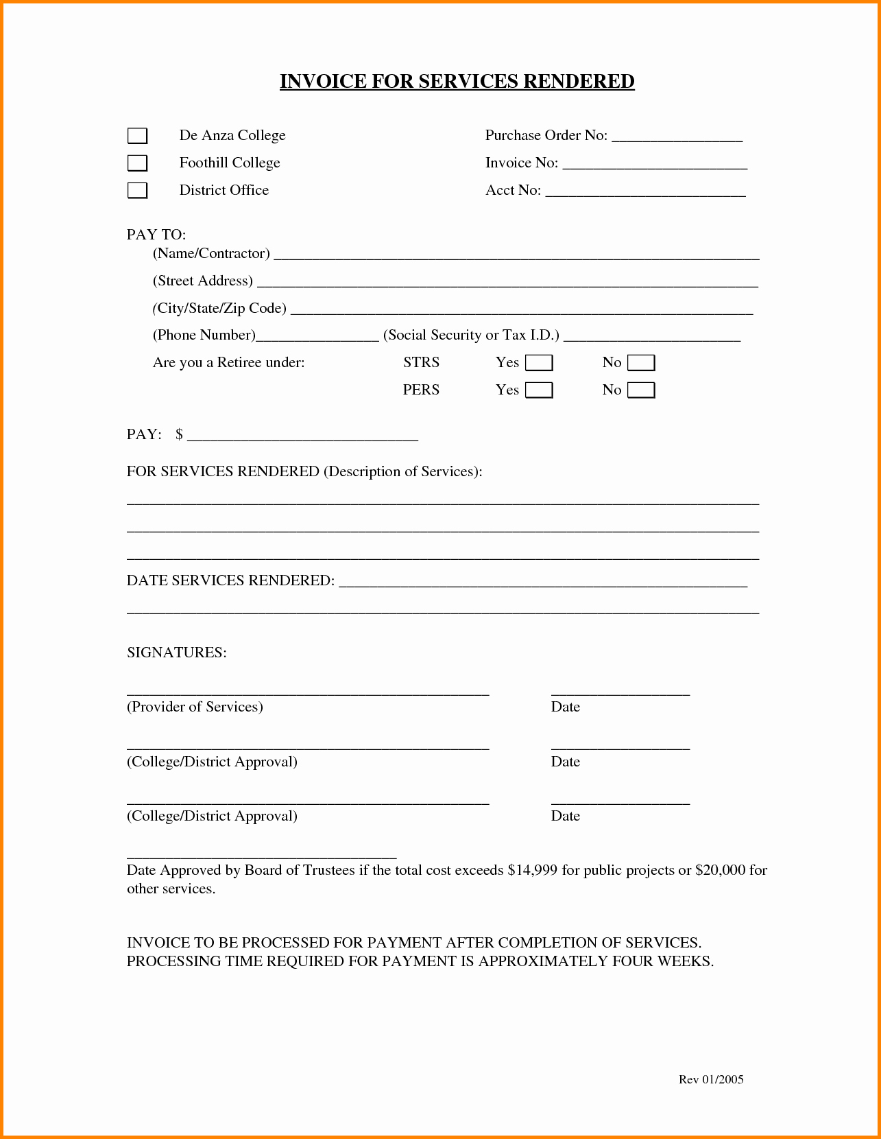Example Of Invoice for Services Beautiful 6 Sample Billing Letter for Services Rendered
