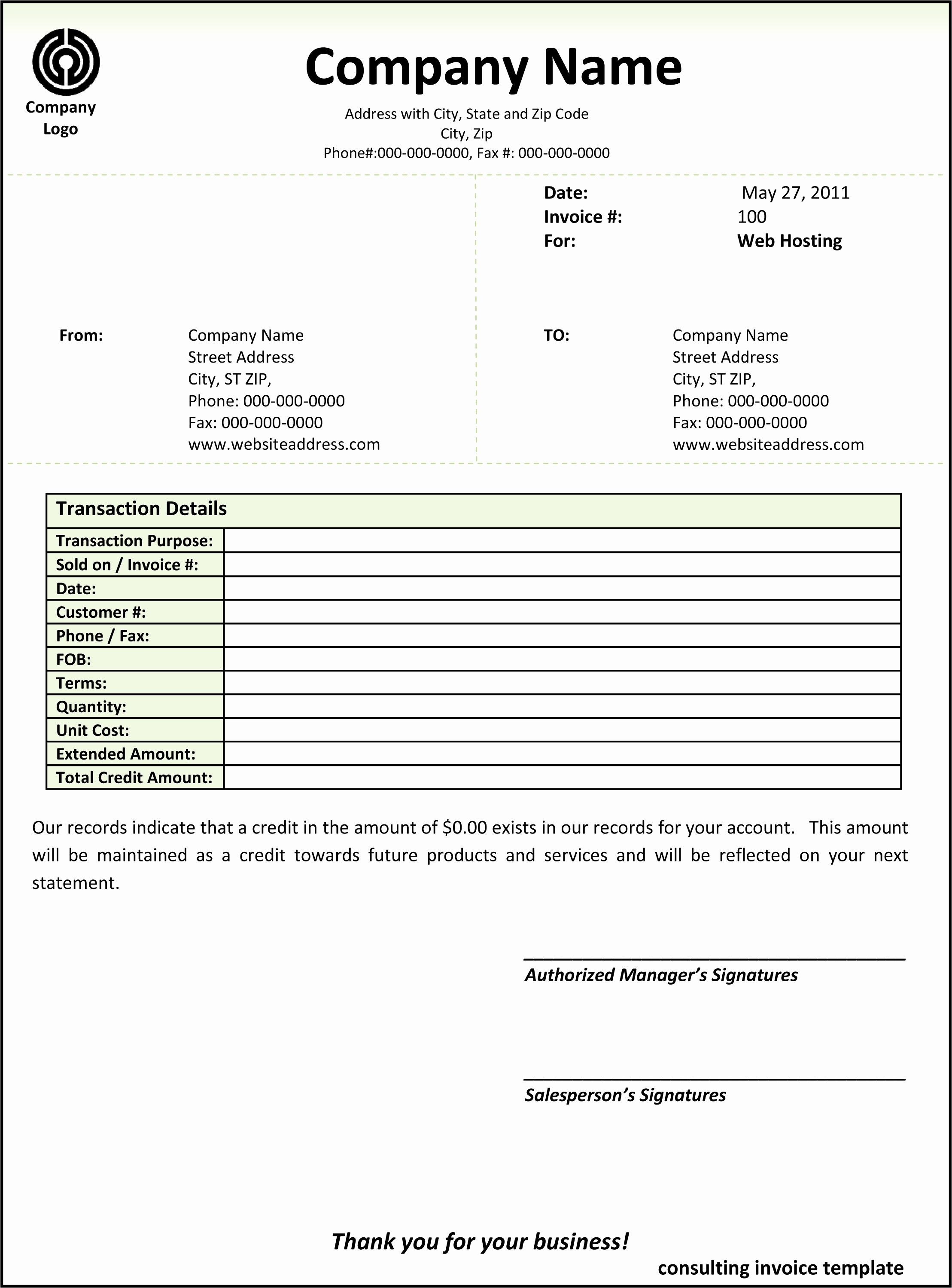 Example Of Invoice for Services Luxury Consulting Invoice Template Word