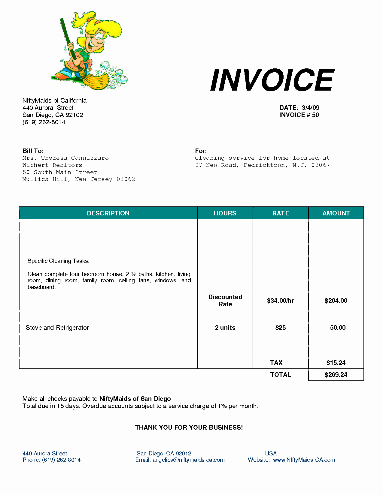 Example Of Invoice for Services New Cleaning Invoice Template Uk