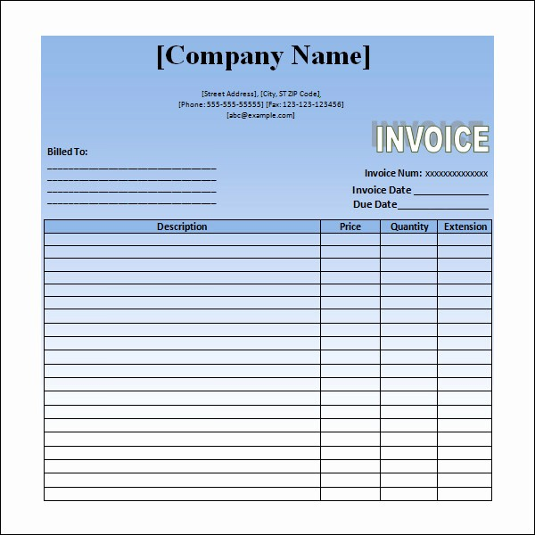 Example Of Invoice for Services Unique 12 Word Invoice Samples