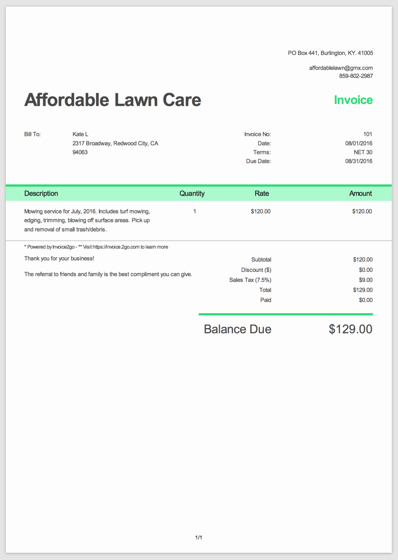 Example Of Invoice for Services Unique How to Create A Professional Invoice Sample Invoice