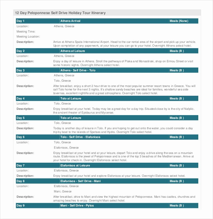 Example Of Itinerary for tour Best Of 33 Trip Itinerary Templates Pdf Doc Excel