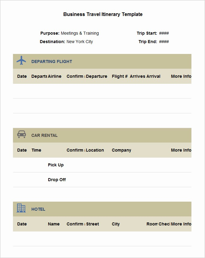 Example Of Itinerary for tour Luxury 32 Travel Itinerary Templates Doc Pdf