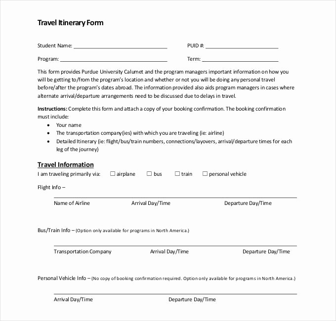 Example Of Itinerary for tour New 32 Travel Itinerary Templates Doc Pdf