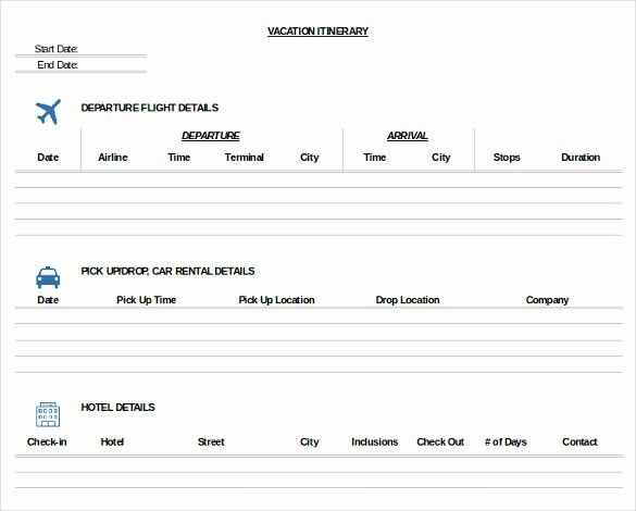 Example Of Itinerary for tour Unique 11 Trip Itinerary Templates – Free Sample Example