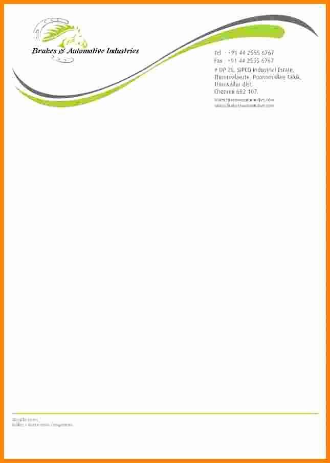 Example Of Letter Headed Paper Best Of 10 It Pany Letterhead Sample