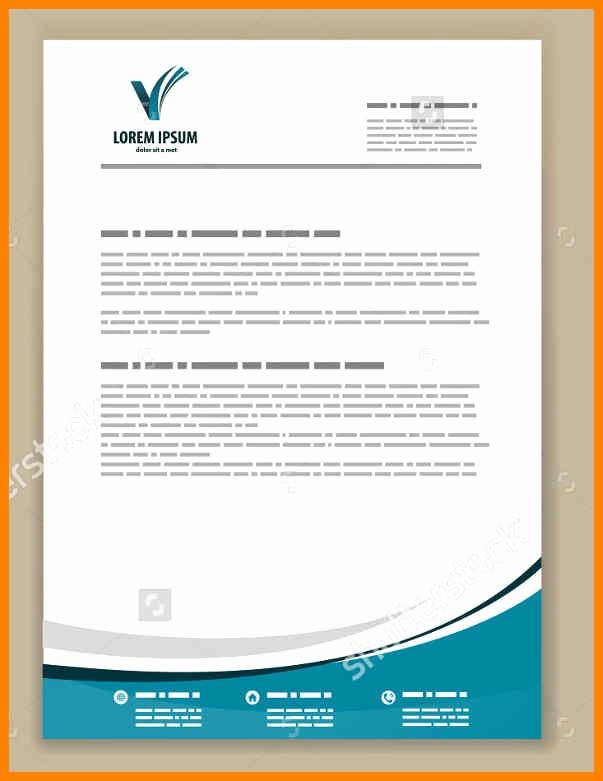 Example Of Letter Headed Paper Elegant Free Letter Headed Paper Design Letterhead Templates
