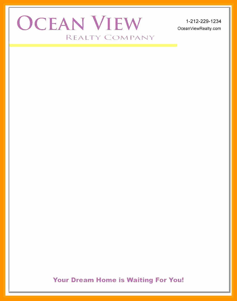 Example Of Letter Headed Paper Elegant Letter Headed Paper Samples 4 Band Ible