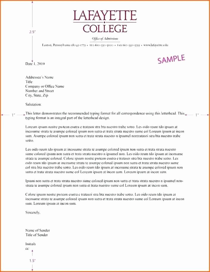 Example Of Letter Headed Paper Fresh Letterhead Examples Business Letter