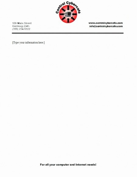 Example Of Letter Headed Paper Luxury Business Letterhead Templates with Logo