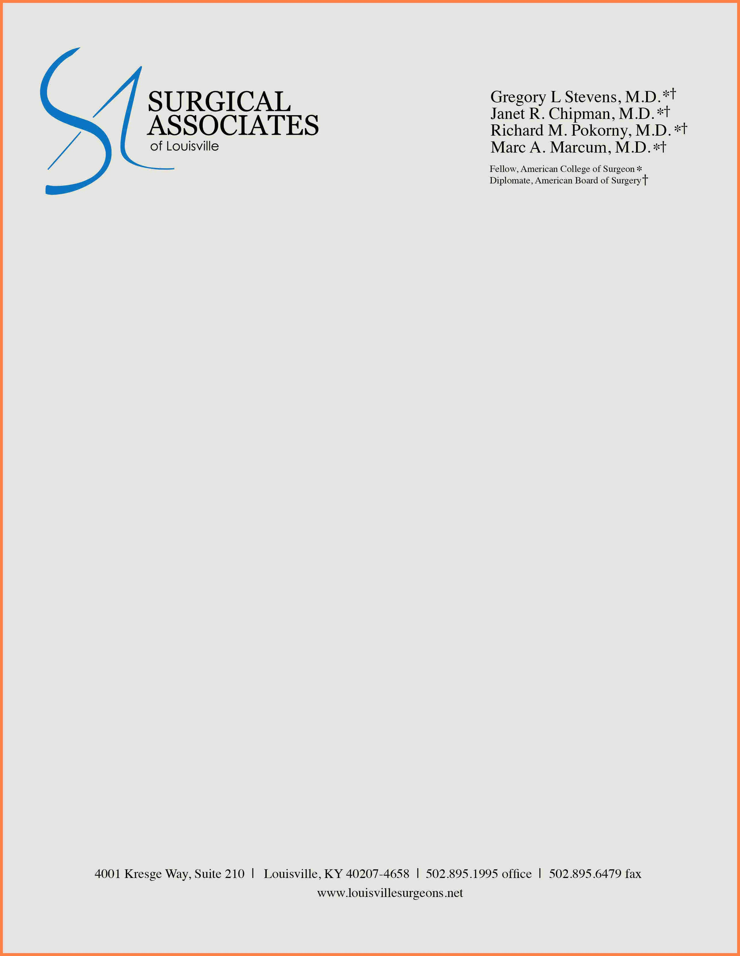 Example Of Letter Headed Paper Unique 3 Sample Pany Letterhead Template