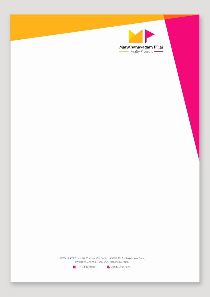 Example Of Letter Headed Paper Unique Letterhead Design