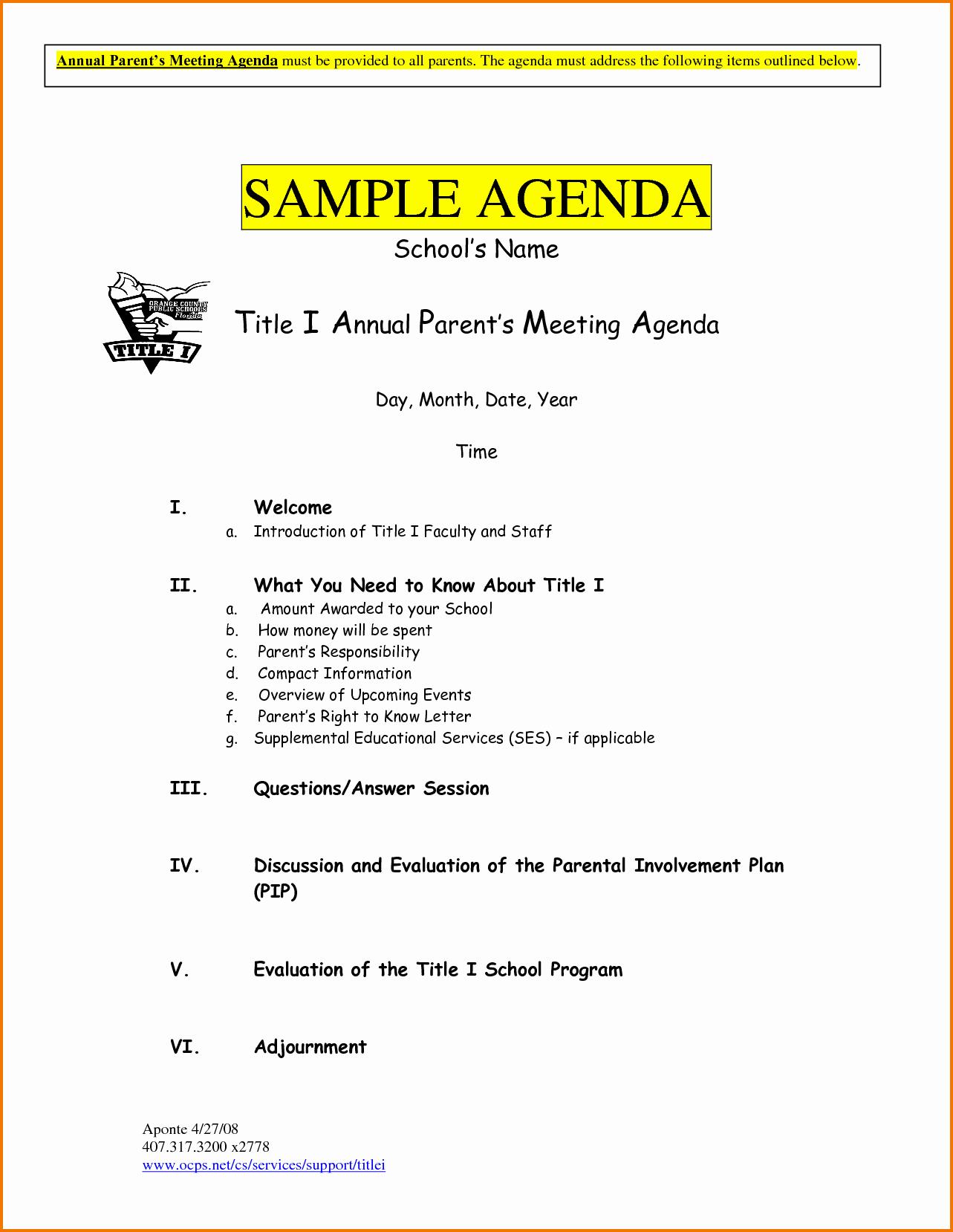 Example Of Meeting Agenda format Beautiful 5 Meeting Agenda Sample