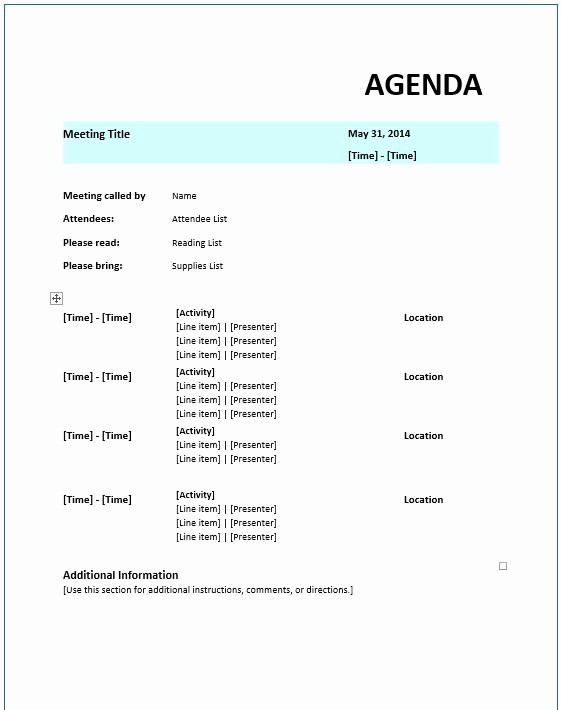 Example Of Meeting Agenda format Best Of 8 Free Sample Strategic Meeting Agenda Templates