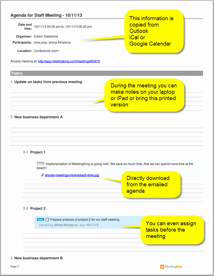 Example Of Meeting Agenda format Best Of Sample Staff Meeting Agenda Template
