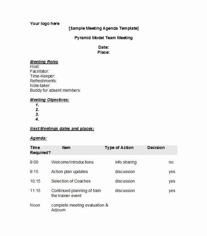 Example Of Meeting Agenda format Inspirational 46 Effective Meeting Agenda Templates Template Lab