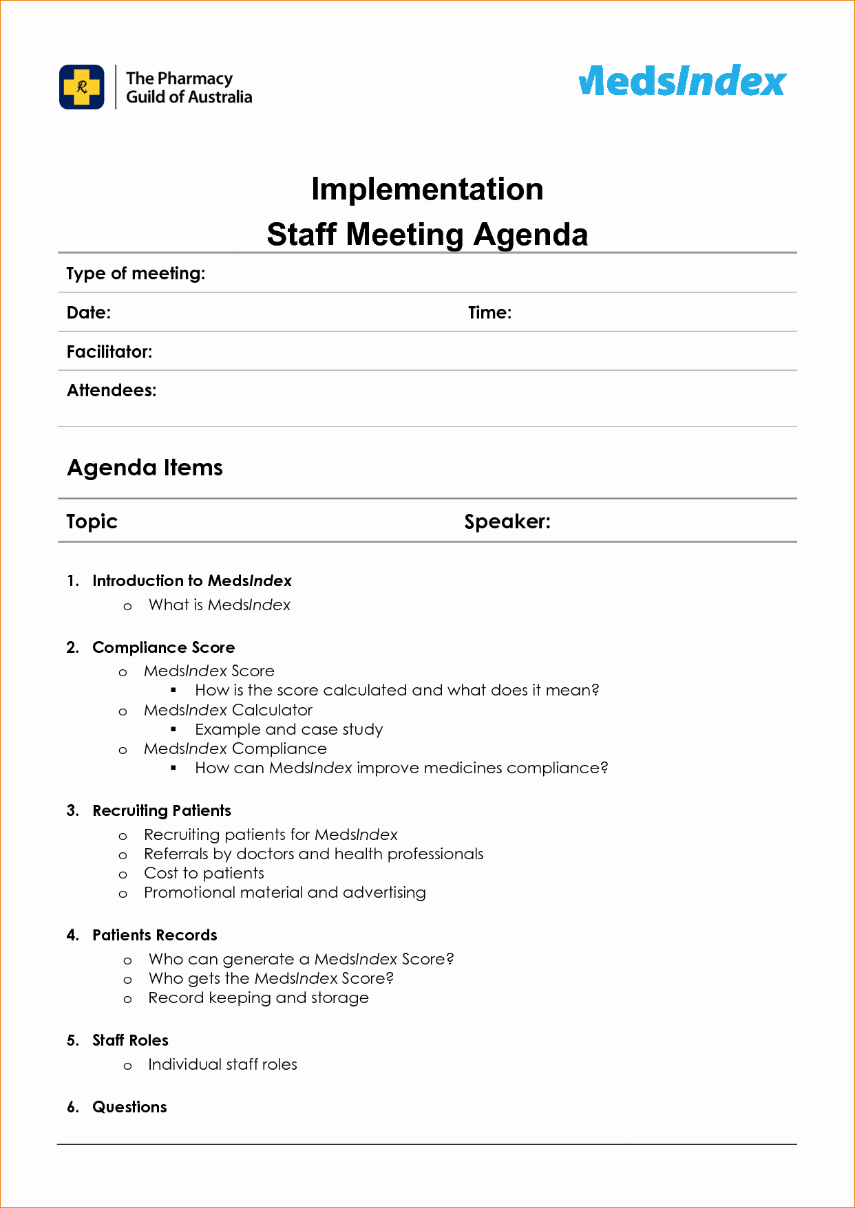 Example Of Meeting Agenda format Luxury Meeting Staff Meeting Agenda Template