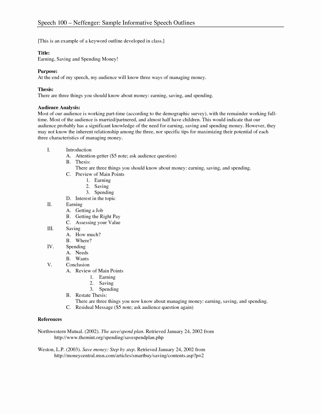 Example Of Outline for Speech Lovely Best S Of Public Speaking Outline Apa Apa Speech