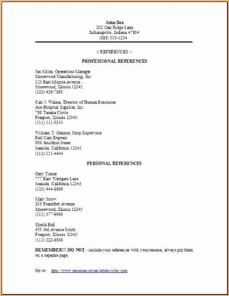 Example Of Professional Reference List Unique 3 Professional References Examples Business Proposal