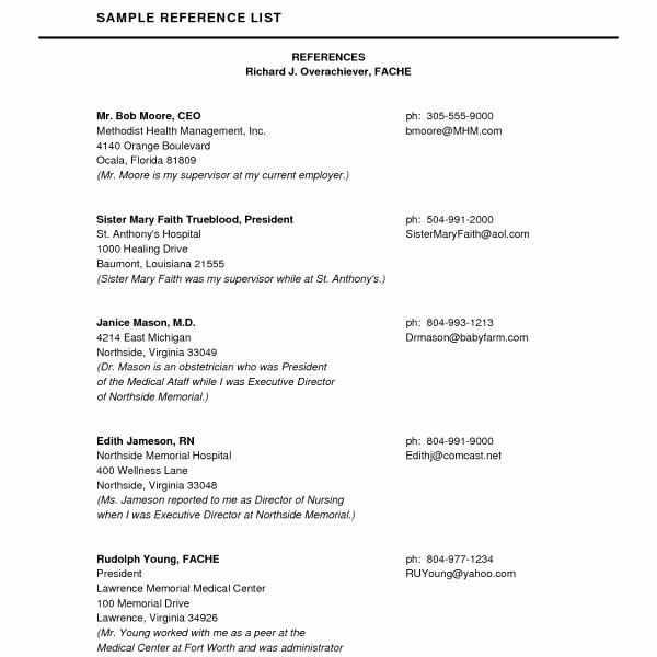 Example Of Professional References Page Luxury Job Reference Page Example – Zrom In Professional
