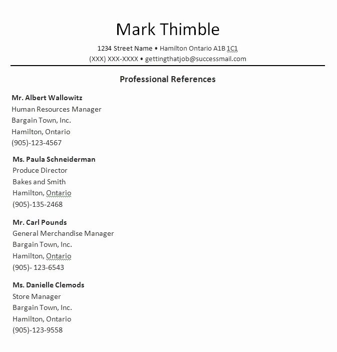 Example Of Professional References Page Luxury Professional References Template Beepmunk