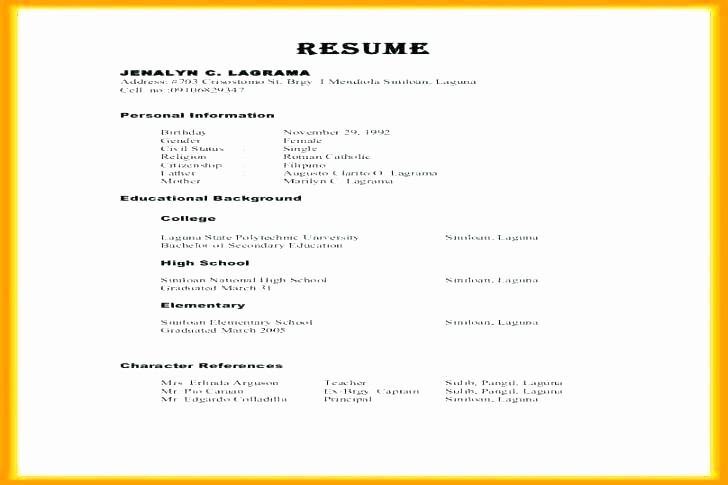 Example Of References In Resume Beautiful Sample Curriculum Vitae References Resume with Examples