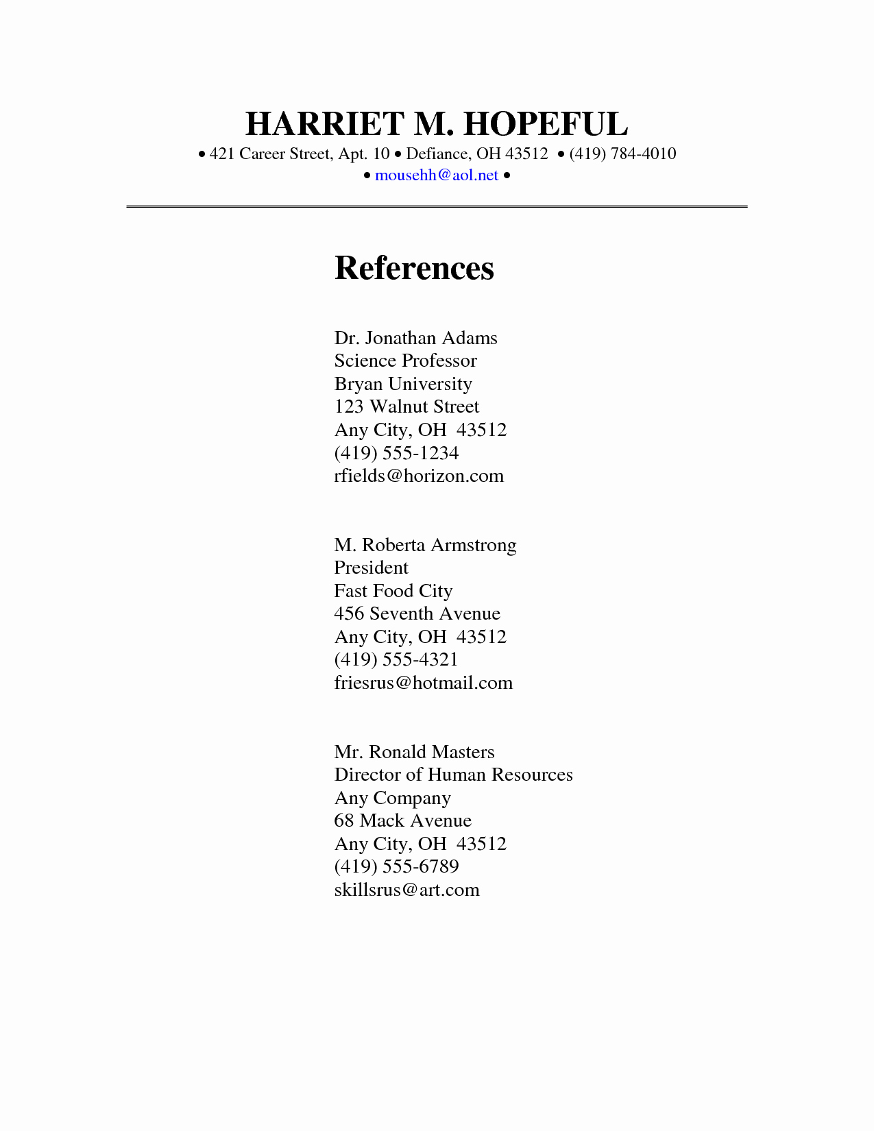 Example Of References On Resume New Getting References for Resume Azwg
