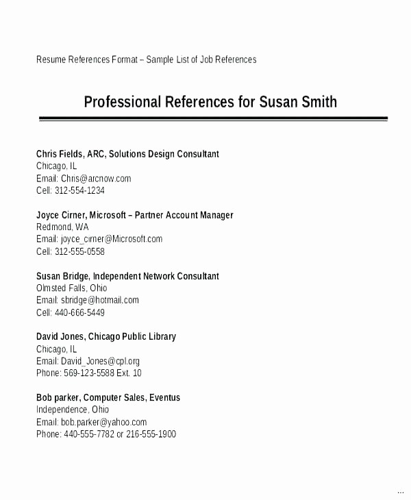 Example Of References On Resume New Professional Reference Sample Achievable 9 References Page