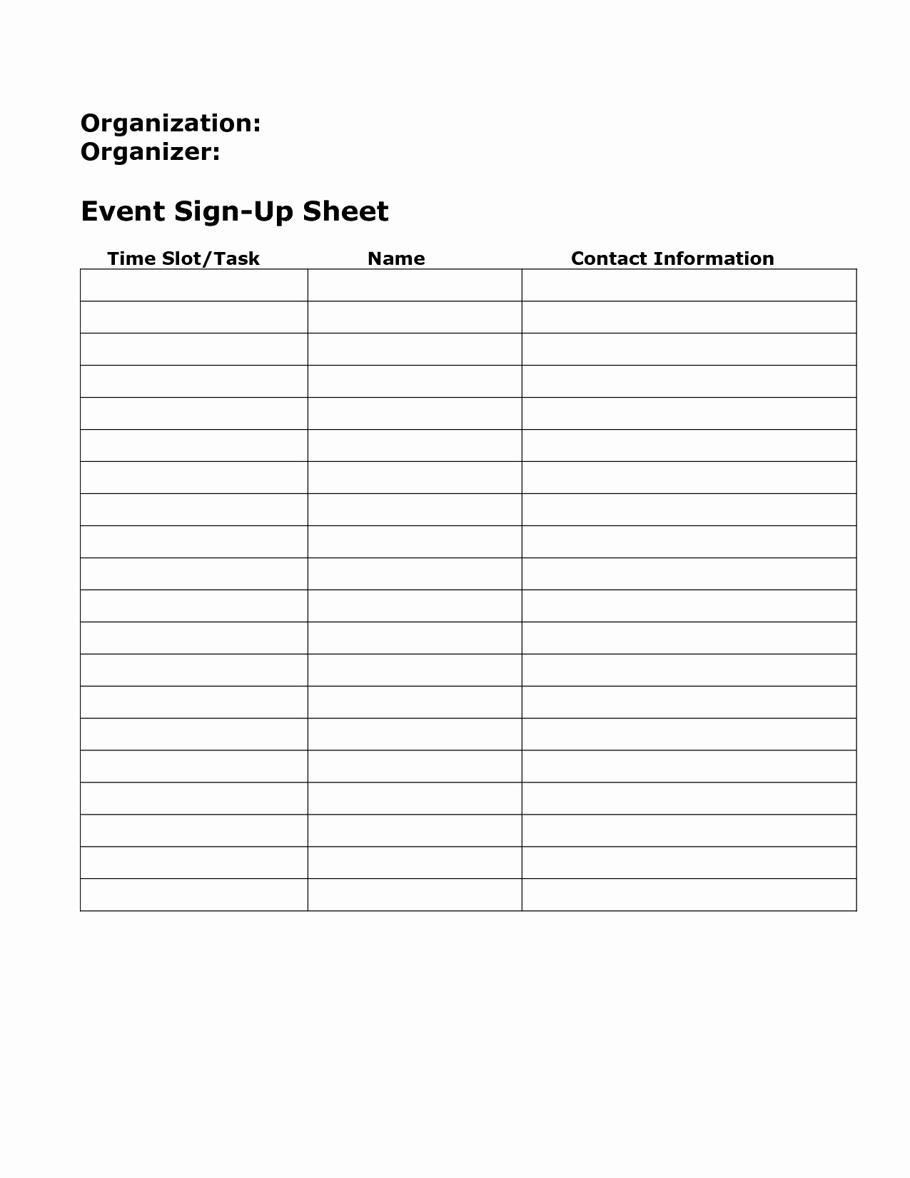 Example Of Sign In Sheet Elegant Blank Sign Up Sheet Example Mughals