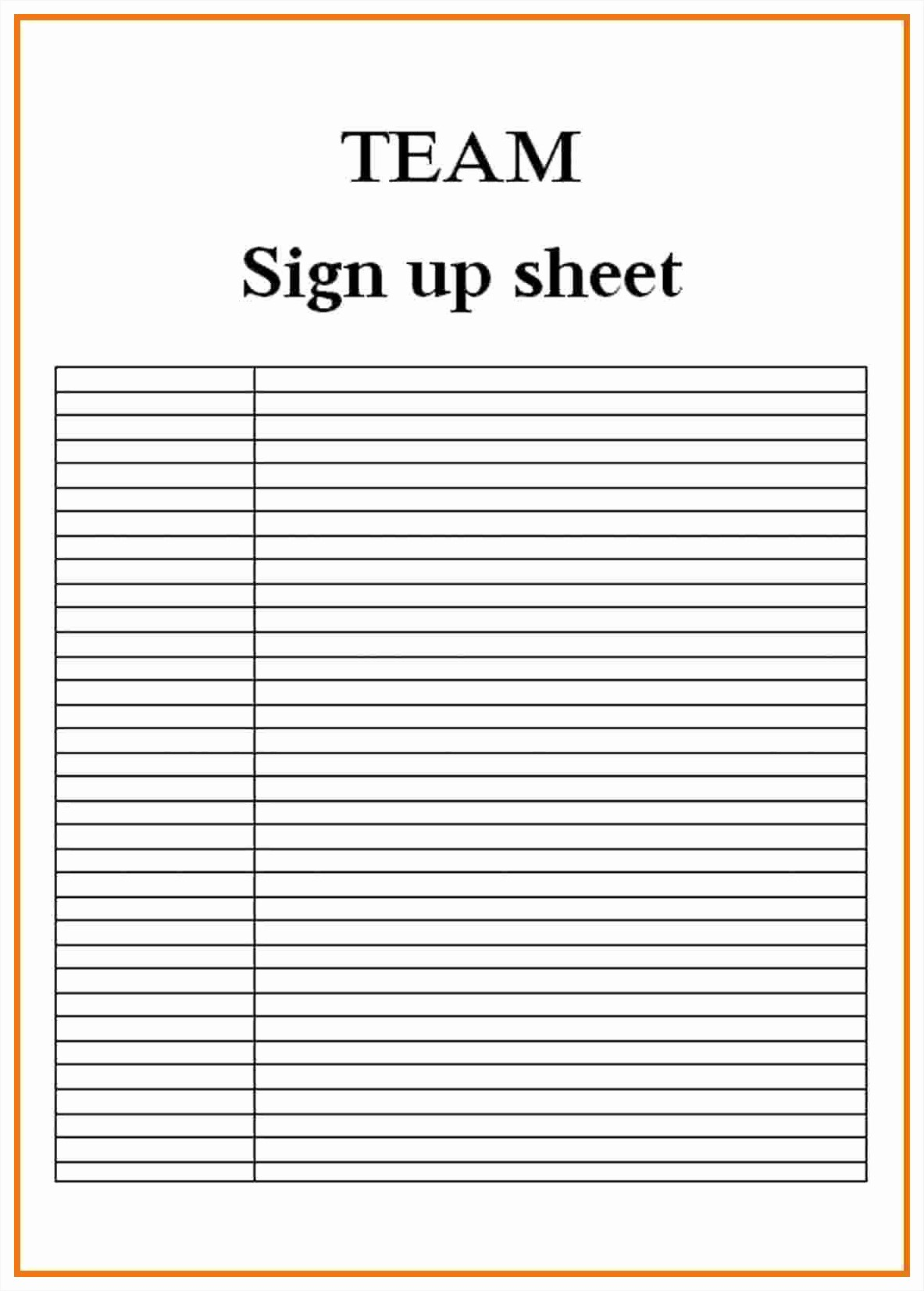 Example Of Sign In Sheet New Blank Sign Up Sheet Example Mughals