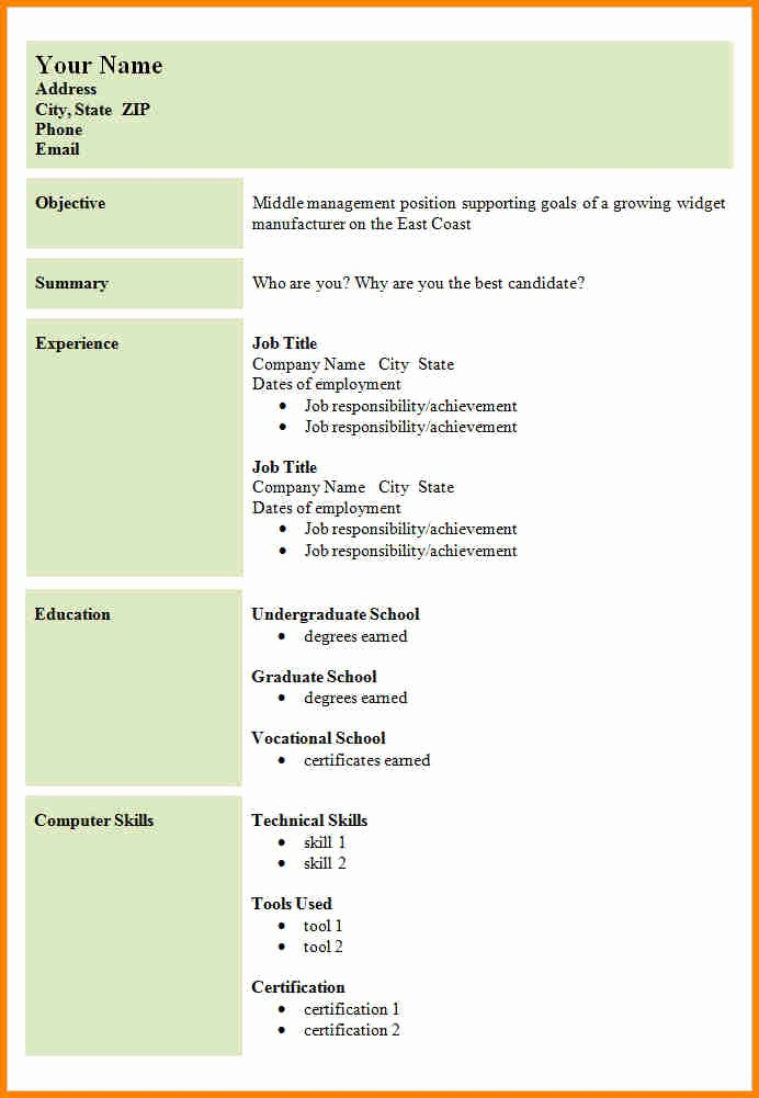 Example Of Simple Resume format Awesome 8 Example Of A Simple Cv Layout