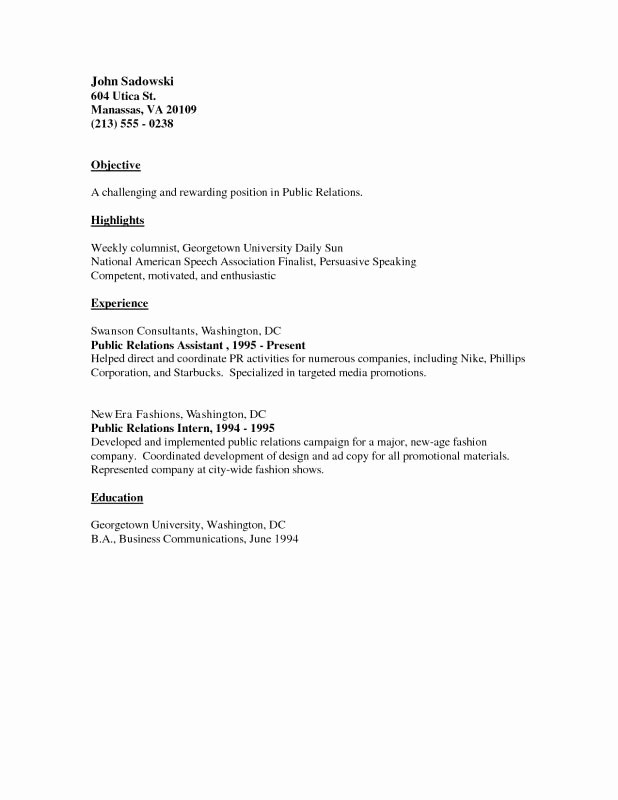 Example Of Simple Resume format New Basic Resume Examples