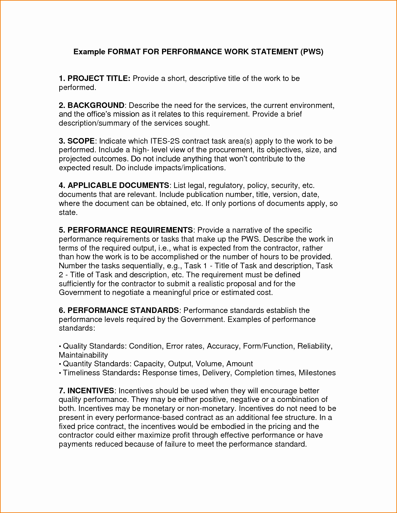 Example Of Statement Of Work Fresh 5 Example Statement Of Work