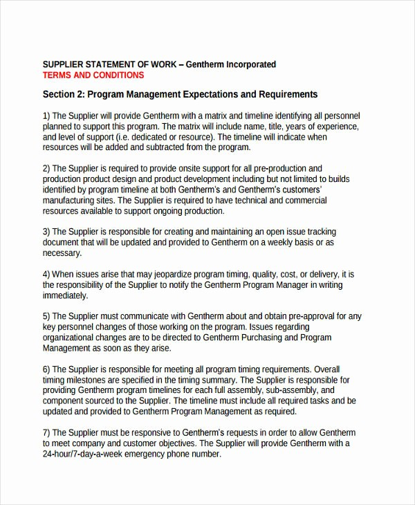 Example Of Statement Of Work Lovely 31 Statement Of Work Examples & Samples Pdf Word Pages