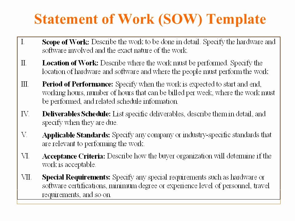 Example Of Statement Of Work Lovely Statement Work Example