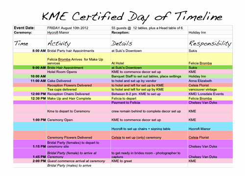 Example Of Timeline Of events Unique 6 Free event Planning Templates to Kickstart Your Week