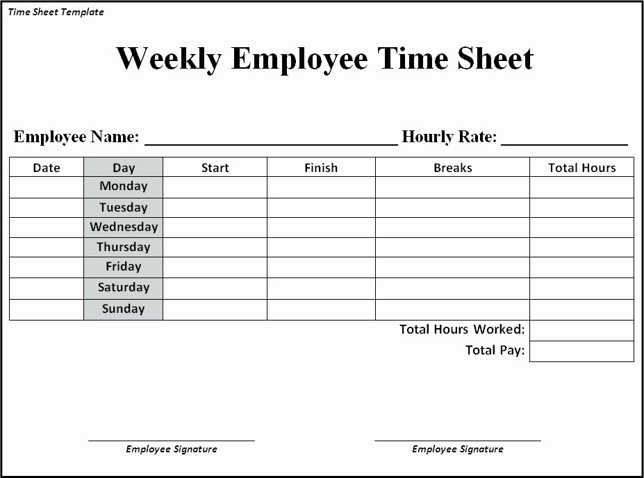 Example Of Timesheet for Employee Awesome Timesheet Template Free Download Month Excel Timecard