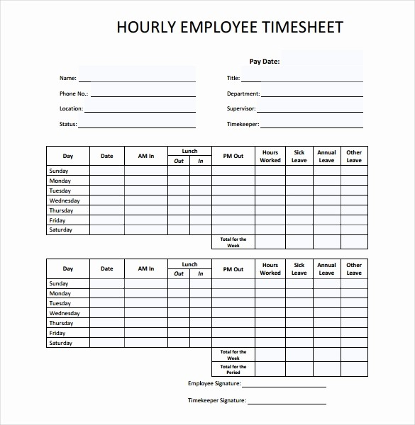 Example Of Timesheet for Employee Elegant 26 Blank Timesheet Templates – Free Sample Example