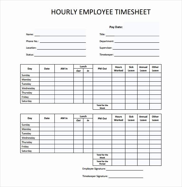 Example Of Timesheet for Employee Elegant 26 Blank Timesheet Templates – Free Sample Example