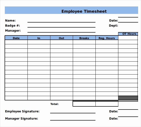 Example Of Timesheet for Employee Inspirational 22 Weekly Timesheet Templates – Free Sample Example