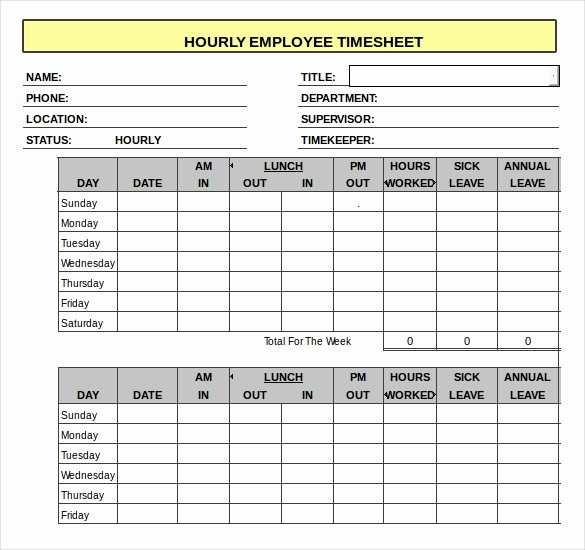 Example Of Timesheet for Employee Lovely 18 Hourly Timesheet Templates – Free Sample Example