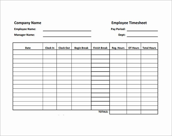 Example Of Timesheet for Employee Lovely Employee Timesheet Sample 11 Documents In Word Excel Pdf