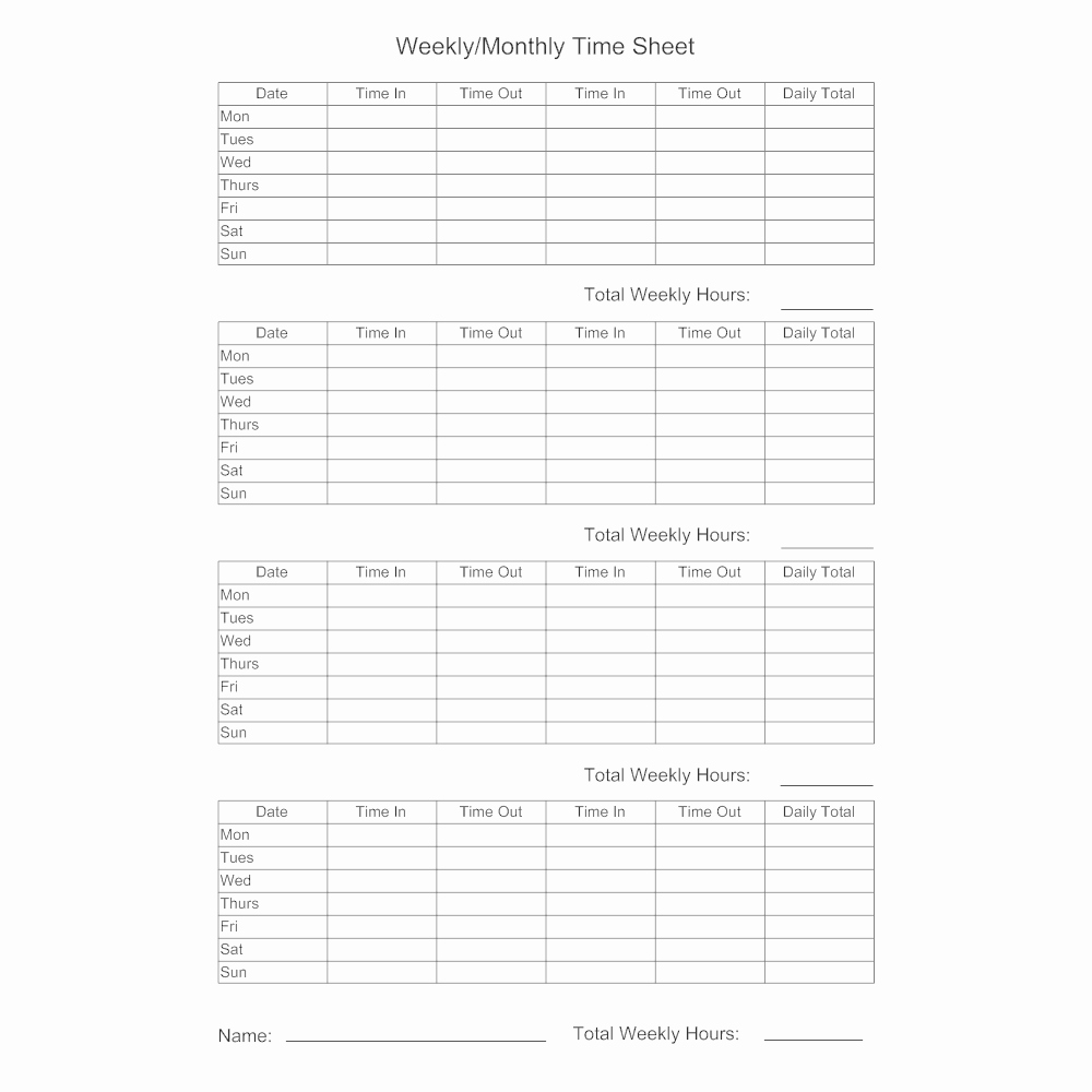 Example Of Timesheet for Employee Lovely Timesheet Template