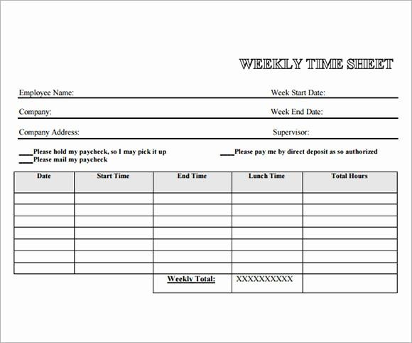 Example Of Timesheet for Employee Luxury 13 Employee Timesheet Samples