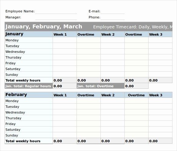 Example Of Timesheet for Employee New 25 Excel Timesheet Templates – Free Sample Example