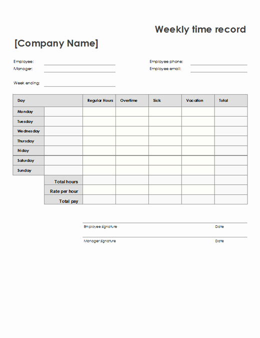 Example Of Timesheet for Employee New Employee attendance Tracker Fice Templates