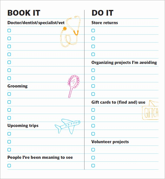 Example Of to Do List New to Do List Template – 9 Free Samples Examples format