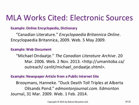 Example Of Work Cited Mla Awesome Works Cited Mla format Web sources Google Search