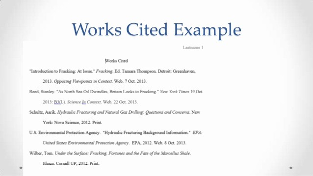 Example Of Work Cited Mla Beautiful Library Mla Workshop Citing Section 2013 10 22